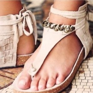New Free People Genuine Leather Sandals